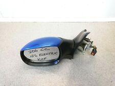 POUR PEUGEOT 206 98-09 droit côté conducteur électrique Aile Miroir Verre