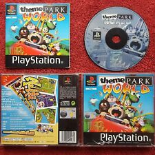 THEME PARK WORLD ORIGINAL BLACK LABEL SONY PLAYSTATION PSONE PS1 PS2 PAL