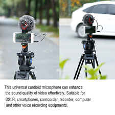 3.5mm Interview Cardioid Microphone Video Recording iphone DSLR +Stand Windproof