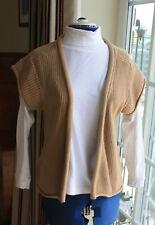 La Redoute sandy beige cotton waistcoat cap sleeve size 10 to 12 waist length