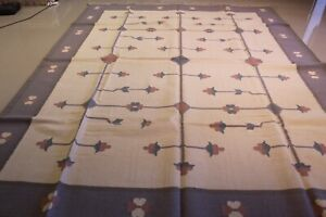 Genuine Hand -Woven Dhurrie Kilim100% Wool Pile9.0x12.0 Ft 80% OFF GREAT DEAL!
