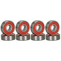 ABEC Ceramic 9 Bearings Skateboard Pats Deck Long board Red Silver 1 set of 8