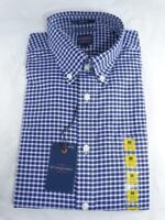 Dockers Men's Dress Shirt Size Medium Classic Fit Plaid Button Down Long Sleeve