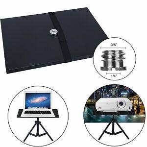 Laptop Projector Tray Holder Platform Pallet 1/4'' Screw Tripod Stand US SHIP