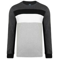 Mens KAM BIG Long Sleeve Casual Cotton Crew Neck Jersey  Top Summer 2-8XL