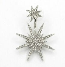 Earring Boho Festival Party Boutique Uk Silver Crystal Star Pair Luxury Fashion