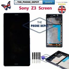 For Sony Xperia Z3 D6603 D6643 LCD Black Touch screen digitizer Display Frame UK