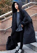 Women Puffer Long Oversize Crop Coat Down Winter Quilted Jacket  Parka Outerwear