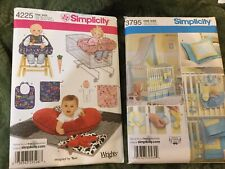 Simplicity Baby Toys And Crib Playtime Bib Accessories Sewing 2 New Patterns