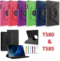 """New 360 Rotation PU Leather Stand Case Case for Galaxy Tablet A T580 T585 10"""""""