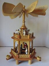 AlexanderTaron Richard Glaesser 2 Tier Nativity Scene Angel Musicians Pyramid