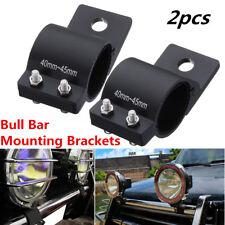 2x 1.6'' Bullbar Mount Bracket Clamp For Car Offroad LED Work Light Bar 40-45mm
