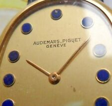 SOLID 18k Gold 1970's Men's Audemars Piguet Oval Swiss Watch All Original Runs