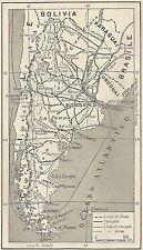 A4817 Argentina - Limiti di Stato - Carta geografica antica del 1953 - Old map