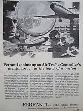 6/1969 pub ferranti atc air traffic control radar simulator original ad