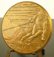 Medaille Ski de descente les Alpes skieur sport Downhill skiing skier 70mm Medal