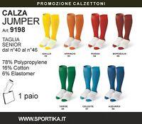 Calzettoni SPORTIKA Mod. JUMPER 7 Colori a Scelta Completi Calcio Sport volley