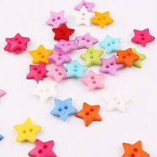 Pkg of 20 STAR Plastic Buttons 1/2
