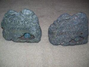A Pair of Garden Rock Key Hiders