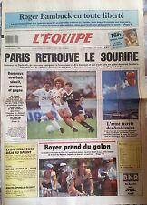 L'Equipe Journal 28/7/1988; Tour de France/ Coupe América/ Roger Bambuck/ PSg