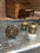 Vintage Brass Light Switch GEC Landon Vitreous Light Bulb Fittings + Extras