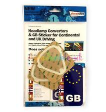 headlight headlamp beam deflectors convertors reflectors UK >EU & GB sticker