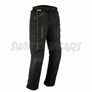 NEW Motorbike Motorcycle Waterproof Cordura Textile Trousers Pants CE Armours
