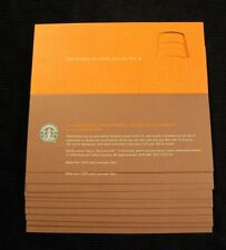 20x 2006 Starbucks Coffee Recovery Gift Card Certificate Free Drink Coupon