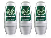 3 x Brut Original Roll On Deodorant Body ROLL ON For Men 50ml