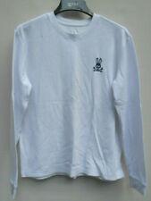 Men's Psycho Bunny White Thermal Long Sleeve Shirt Size L