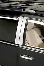 Chrome Decorative Pillar Post Trim Fits 2008-2014 Chrysler Town & Country 6 Pce.