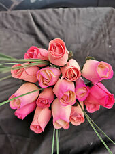 Roses Bouquet Wooden Flowers Wood Artificial Birthday Pink, Pink Tones