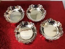 Set 4 Sterling Silver Bon Bon Dishes - Emile Viner - Sheffield - 1952