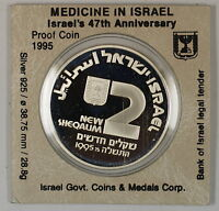 1995 Israel 2 New Sheqalim Silver Proof Independence Day Commem Coin as Issued