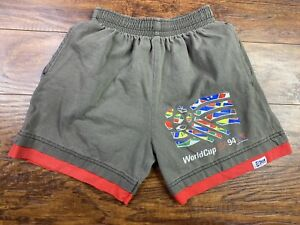 RARE Vintage 1994  USA World Cup Soccer Shorts Youth Size Medium Gray FF