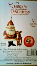 """Jim Shore 4"""" """"Rudolph the Red-Nosed Reindeer� 50th Anniversary - Light Up Nose"""