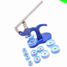 13PCS Watchmaker Tool Watch Press Set Back Case Closer Crystal Fitting Kit NEW