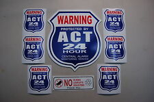 yard sign + 6 STICKERS Security surveillance Home Alarm Business Burglar 24 hr