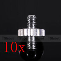 "10x 1/4"" Metal Adapter Screw for Flash Holder Bracket Trigger Tripod Ball Head"