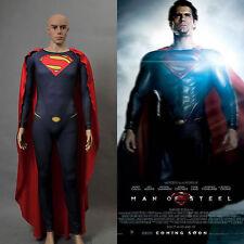 Superman Man of Steel Costume Cosplay Jumpsuit 2013 New Version *Custom Made*