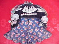 Antico Trachtenhaube__Verzierte Cappellino per Bambini __ Ost- Cina