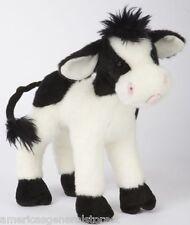 """SWEET CREAM Douglas 8"""" tall COW stuffed plush animal toy BLACK WHITE holstein"""