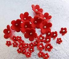 100 gum paste sugar blossom flower cupcake RED