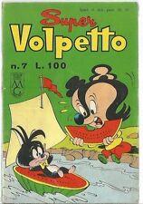 SUPER VOLPETTO # 7 - RACCOLTINA NONNA ABELARDA - AGOSTO 1962  - CO1