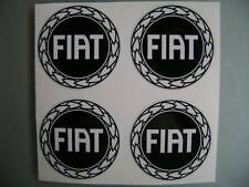 4x 55 mm fits fiat wheel STICKERS center badge centre trim cap hub alloy bk