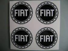 4x 60 mm fits fiat wheel STICKERS center badge centre trim cap hub alloy bk