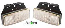 LED Trailer Lights 3 Years warranty , Front Marker White Pair+Bracket