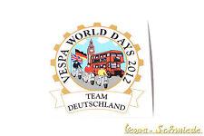 """Dekor Aufkleber """"Vespa World Days 2012"""" Team Deutschland Germany VCD London GB"""