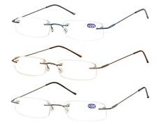 Occhiali senza montatura da vista da lettura in metallo rimless Sunoptic OR17