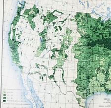 New Listing1900 United States Map Corn Farming Agriculture Michigan Wisconsin New York
